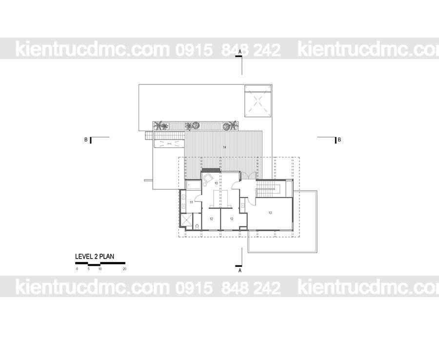 Mẫu nhà 2 tầng đẹp - Mẫu số 15