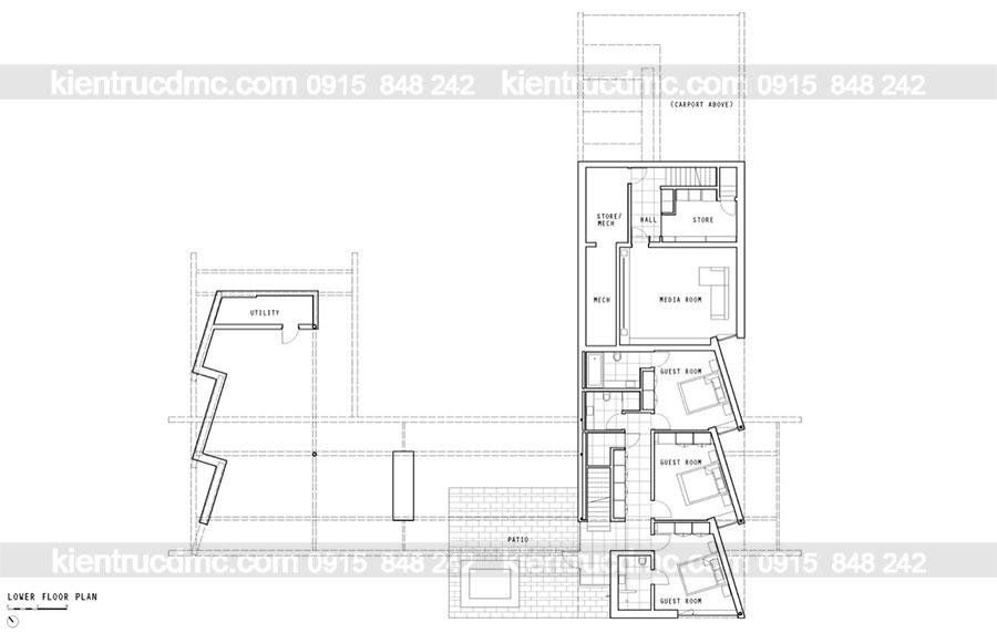 Mẫu nhà 2 tầng đẹp - Mâu số 20