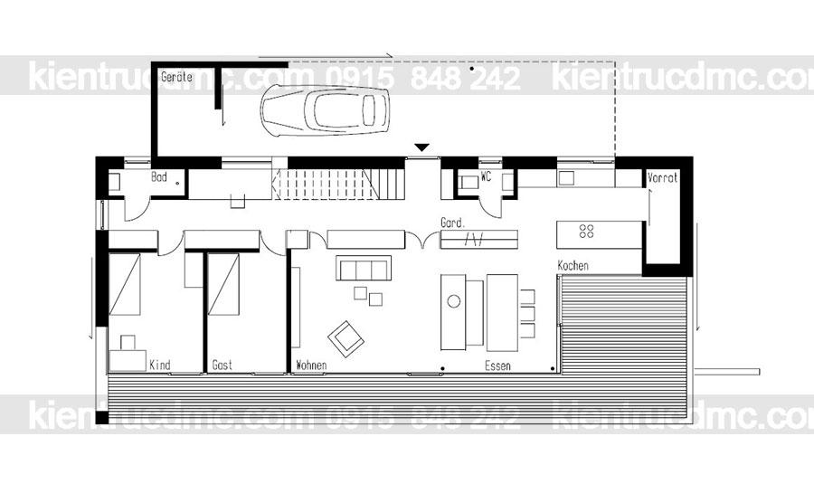 Mẫu nhà 2 tầng đẹp - Mẫu số 22