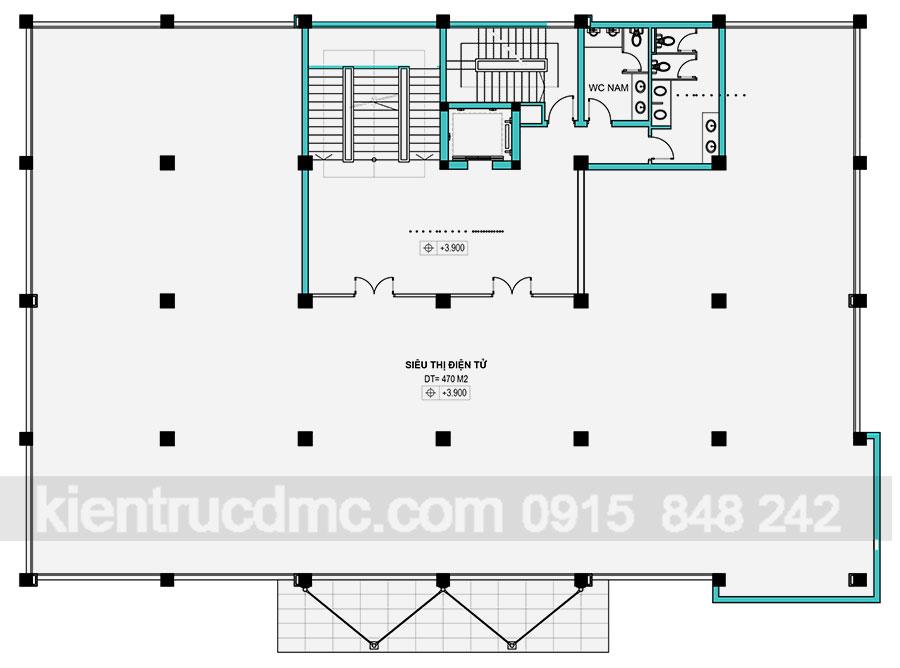 Thiết kế Trung tâm Kinh doanh tổng hợp Trung Kiên