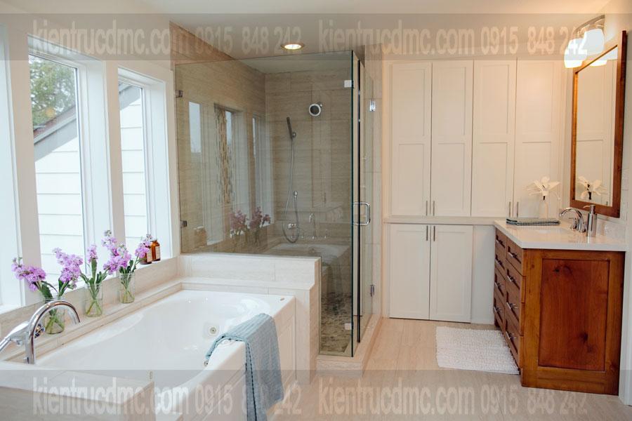 Tư vấn thiết kế nội thất phòng tắm bố trí đèn chiếu sáng hợp lý