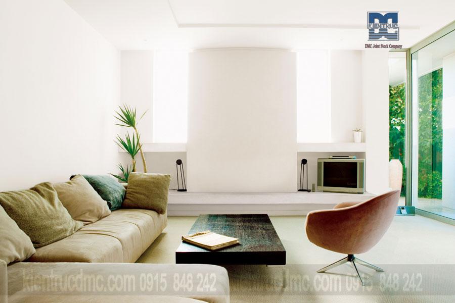 Làm đẹp không gian nội thất phòng khách với bộ bàn ghế sofa