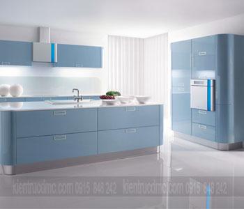 Tư vấn thiết kế nội thất phòng bếp xanh trang nhã