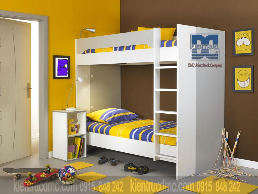 Bố trí không gian nội thất phòng ngủ trẻ em chung và riêng