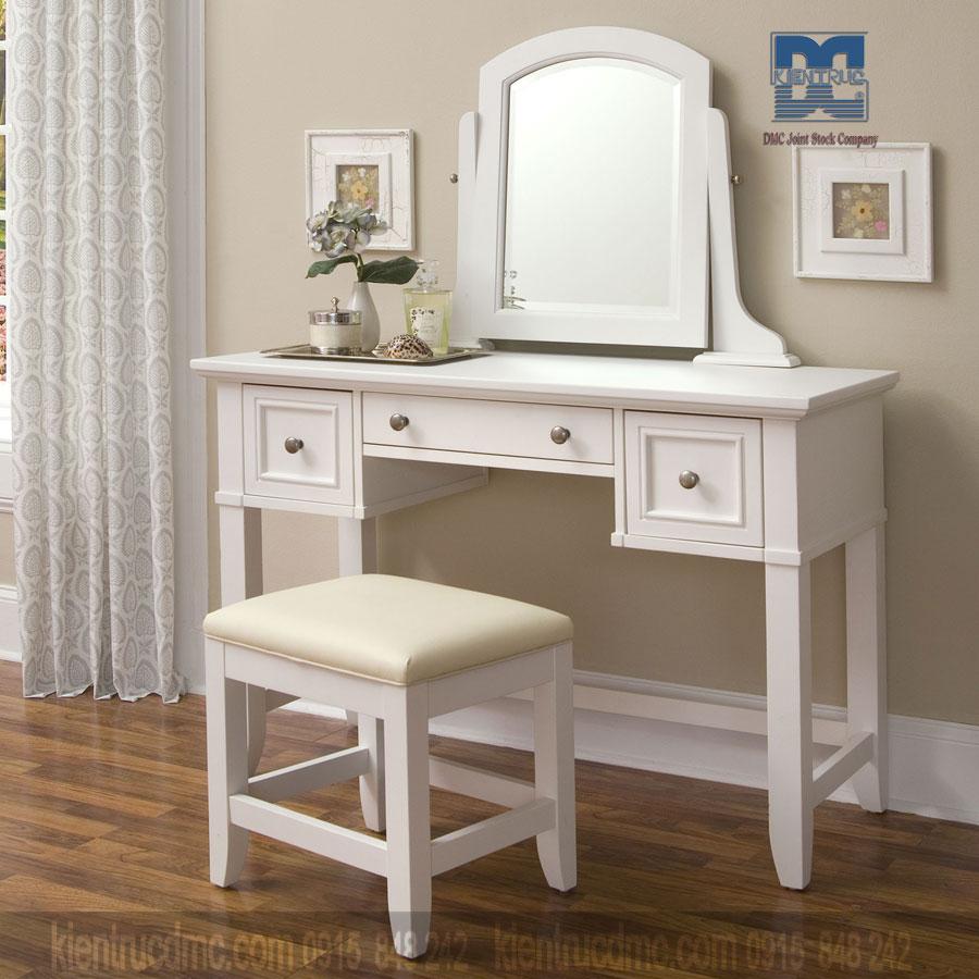 Cách bày trí bàn trang điểm trong nội thất phòng ngủ