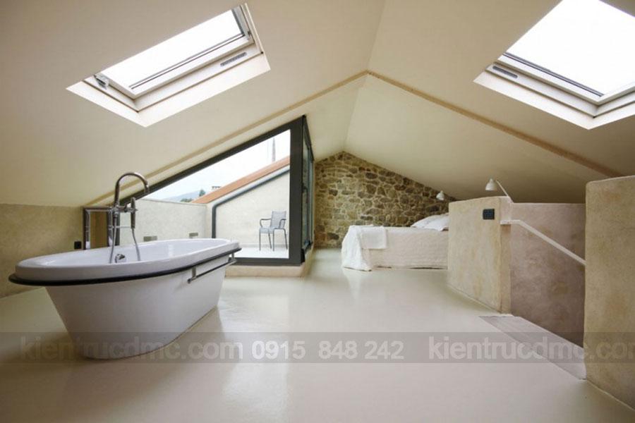 Thiết kế nội thất cho không gian tầng áp mái