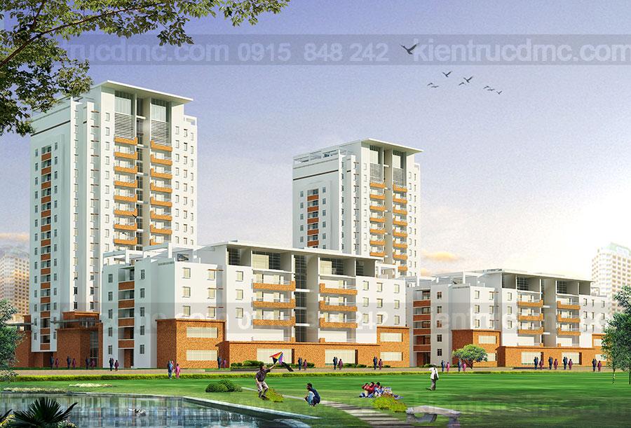 Thiết kế chung cư cho người thu nhập thấp Bắc Ninh