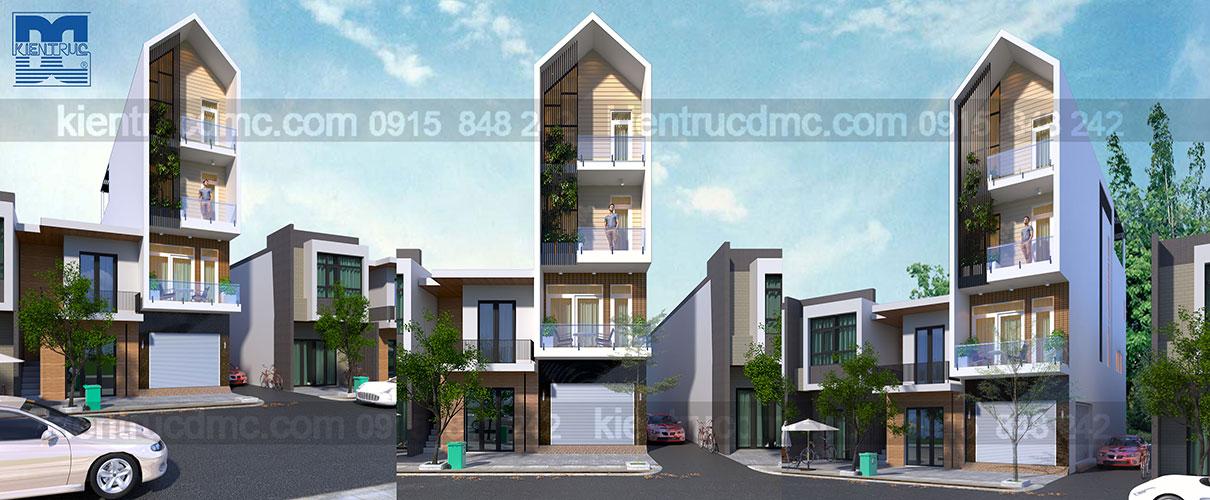 Thiết kế nhà phố 4 tầng kết hợp kinh doanh diện tích 63 m2