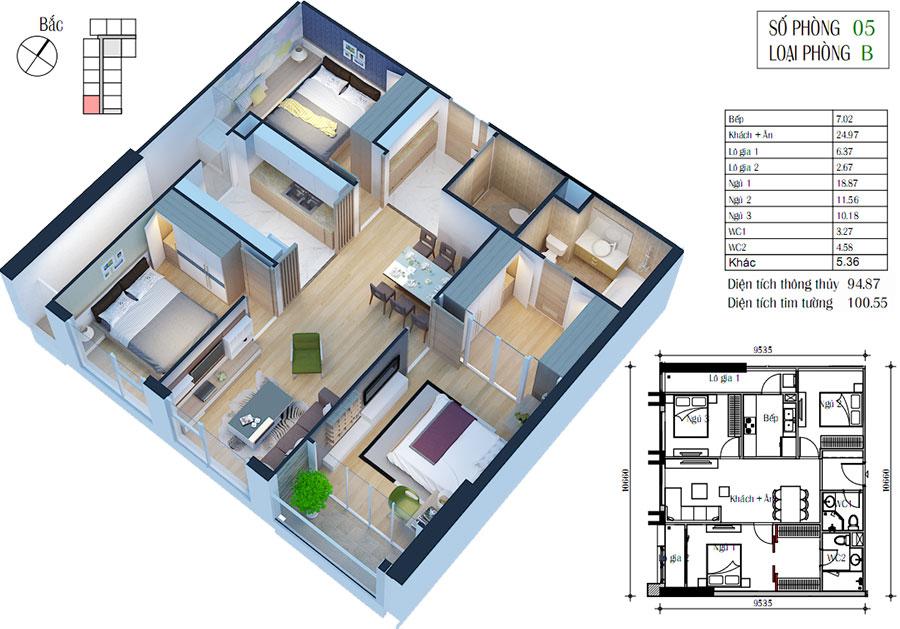 Mẫu thiết kế chung cư Eco green city