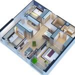 Mẫu thiết kế chung cư Eco Green City Tòa CT1