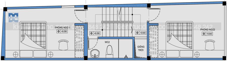 Thiết kế nhà lô 5 tầng kết hợp kinh doanh