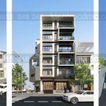 Thiết kế chung cư mini 7 tầng 2 mặt tiền