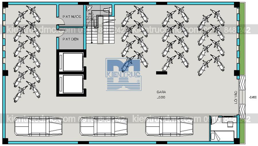 Thiết kế chung cư mini 10 tầng