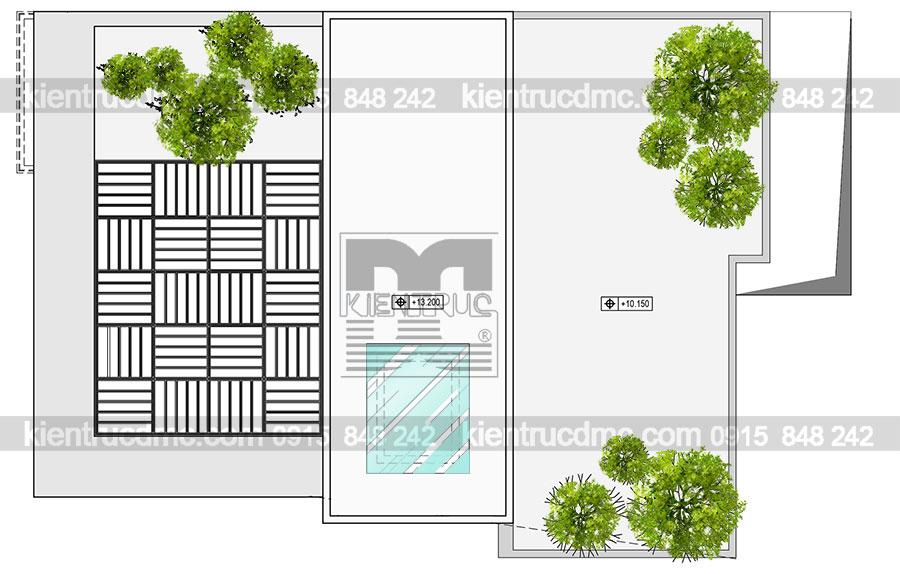 Thiết kế nhà phố 4 tầng 2 mặt tiền diện tích 72m2