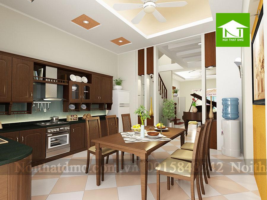 Nội thất phòng ăn 2 - Thiết kế nội thất nhà phố 3 tầng