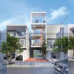 Thiết kế nhà phố 4 tầng mặt tiền 5m kết hợp kinh doanh