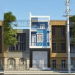 Thiết kế nhà phố 3 tầng có gác lửng mặt tiền 4m