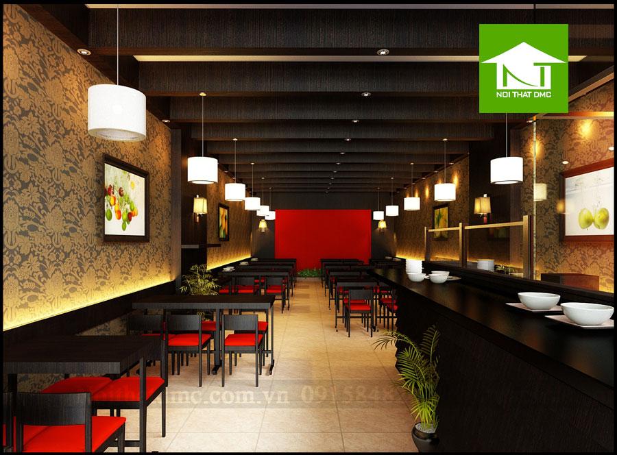 Thiết kế nội thất nhà hàng Cháo Ngon