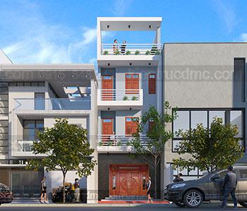 Thiết kế nhà phố 3,5 tầng diện tích 140m2