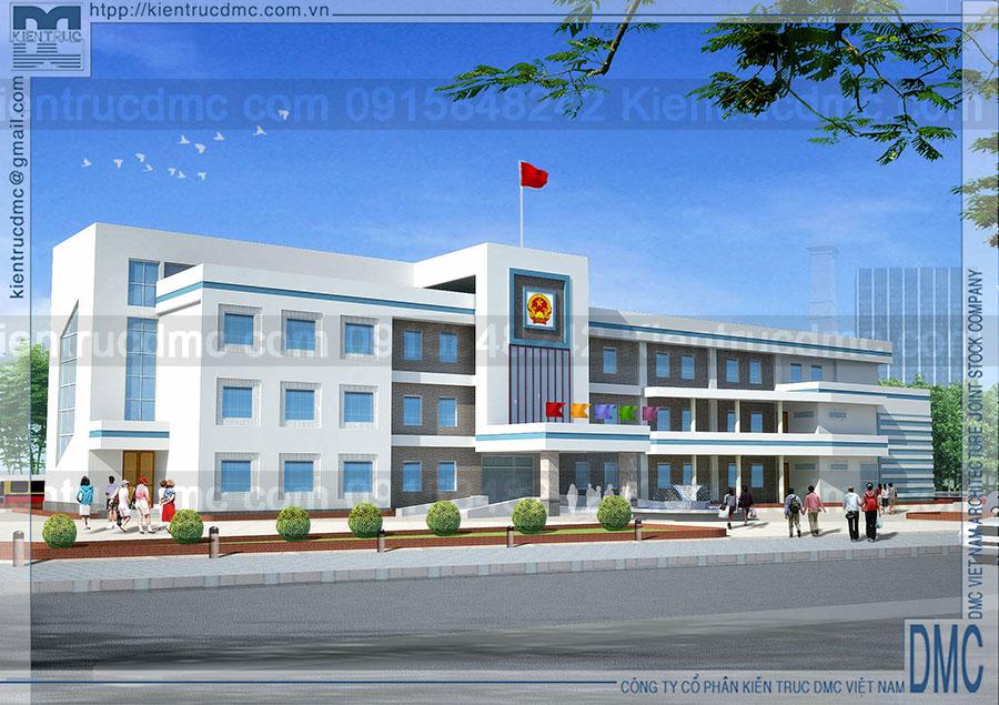 Thiết kế trụ sở UBND phường Tân Hồng