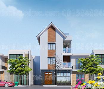Thiết kế nhà phố 2 mặt tiền 3 tầng