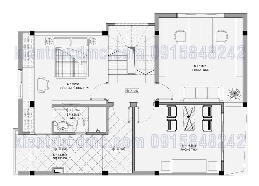 Thiết kế chung cư 2 tầng 3 tầng