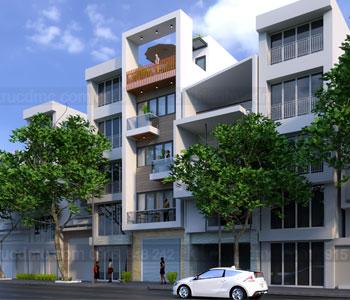 Thiết kế nhà phố 5 tầng kết hợp kinh doanh 5m x 20m