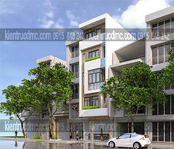 Thiết kế nhà lô phố 5 tầng diện tích 50m2