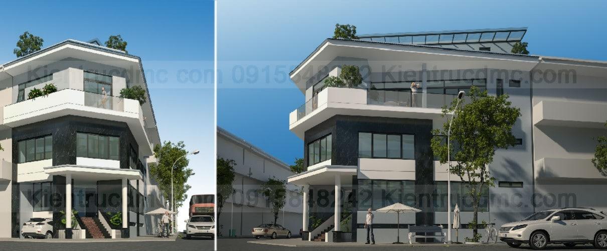 Mẫu thiết kế nhà ở kết hợp kinh doanh đẹp 2018