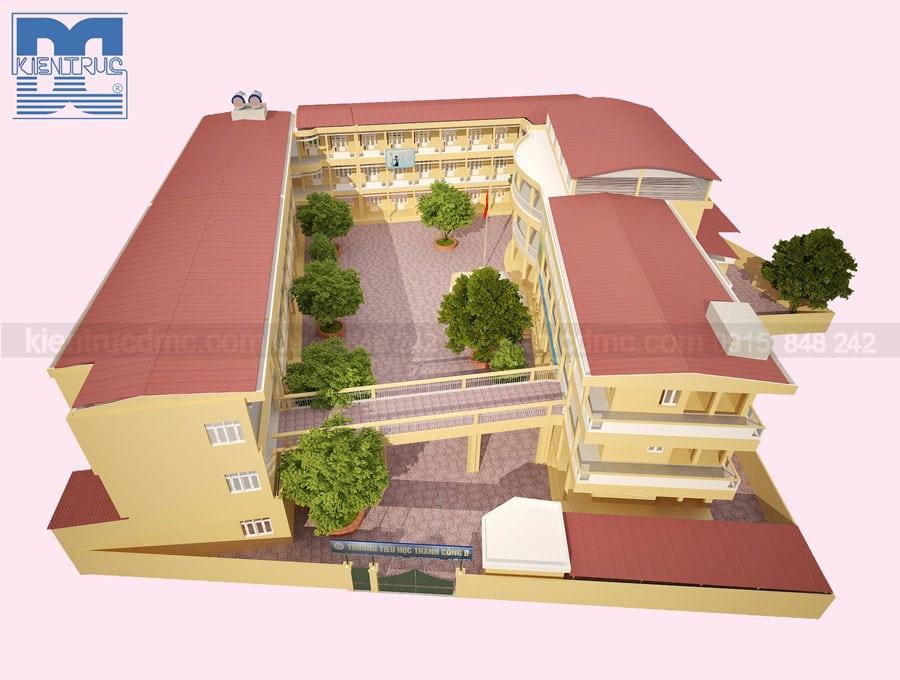 Thiết kế cải tạo Trường Tiểu học Thành Công B
