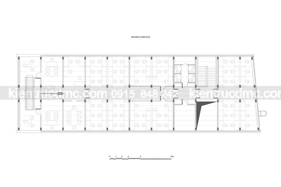 Thiết kế văn phòng làm việc 3 tầng bằng gỗ sang trọng