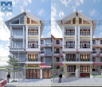 Thiết kế nhà phố 5,5 tầng diện tích 120m2