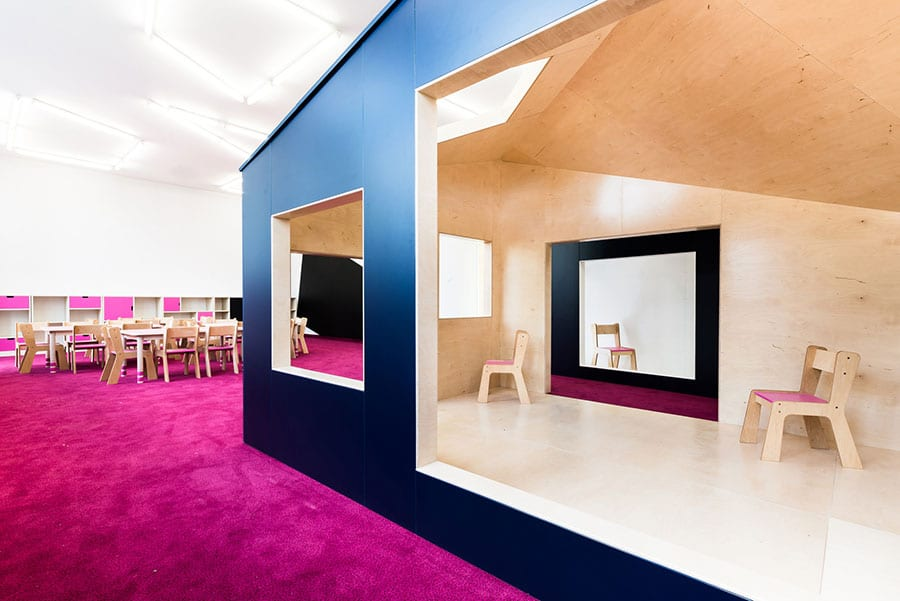 Thiết kế nội thất trường mầm non ở Chroscice