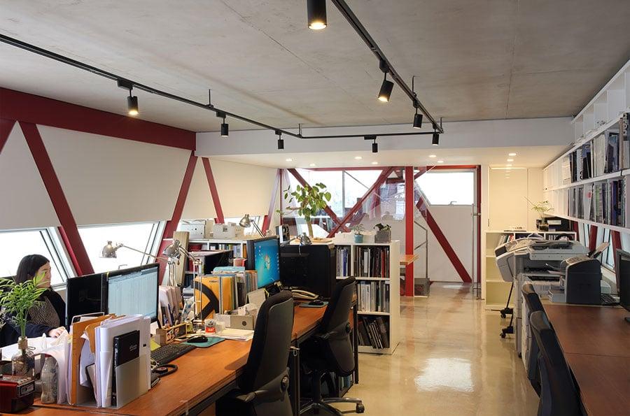 Thiết kế văn phòng làm việc 6 tầng trên đất 240m2 ở Hàn Quốc