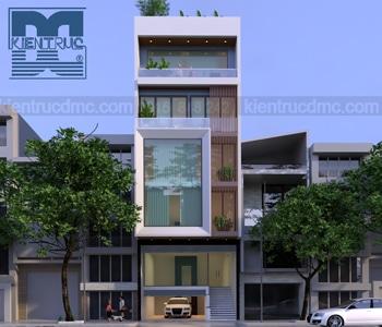 Thiết kế nhà ở kết hợp văn phòng cho thuê diện tích 112m2