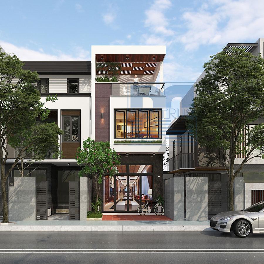 Thiết kế nhà phố 3 tầng diện tích 105m2