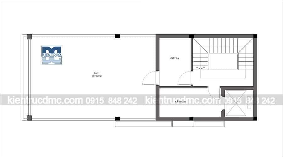 Thiết kế nhà phố 5,5 tầng hai mặt tiền diện tích 70m2