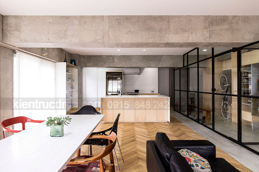 Thiết kế nội thất chung cư diện tích 75m2 phong cách hiện đại