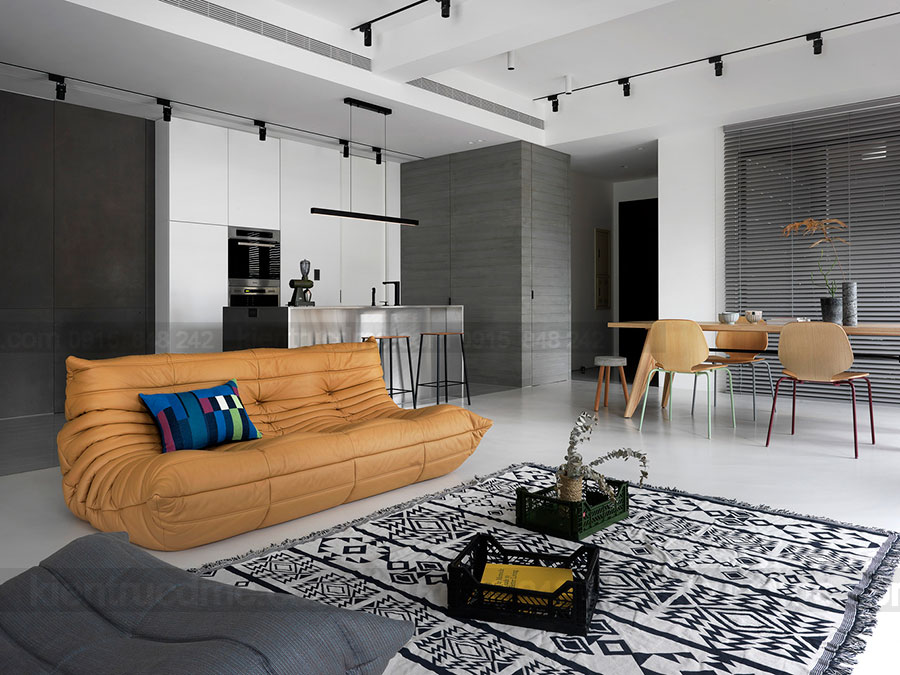 Thiết kế nội thất chung cư diện tích 125m2 phong cách hiện đại