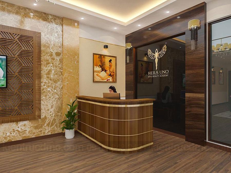 Thiết kế nội thất nhà ở kết hợp kinh doanh Spa
