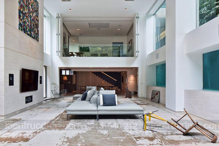 Tăng không gian sống với gác lửng trong thiết kế nội thất nhà phố