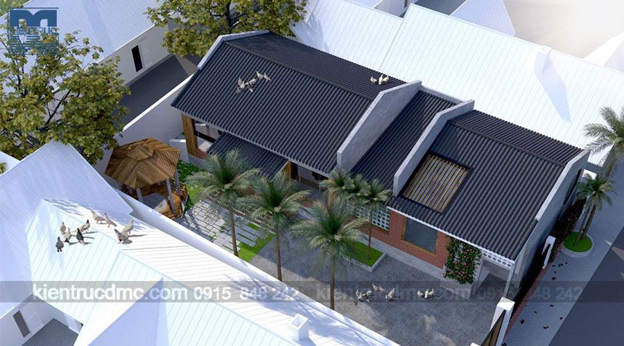 Thiết kế nhà vườn 1 tầng mái thái trên đất 344m2