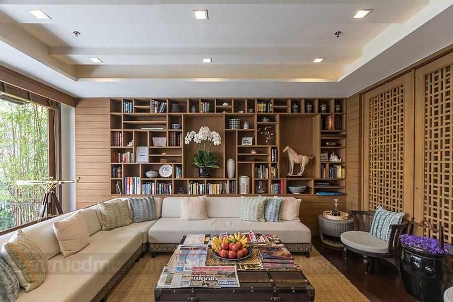 Bố trí phòng đọc sách tại nhà trong thiết kế nội thất nhà ở
