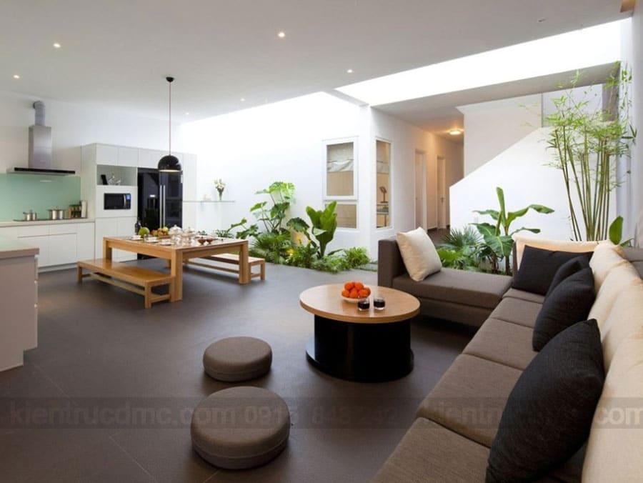 Lấy ánh sáng tự nhiên trong thiết kế nhà phố hiện đại
