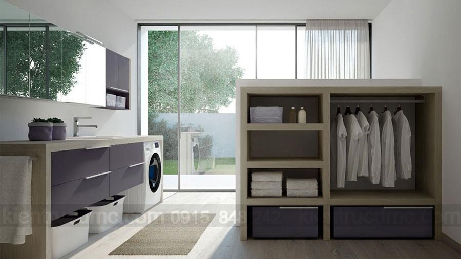 Trang trí và sắp đặt phòng giặt là trong thiết kế nhà phố