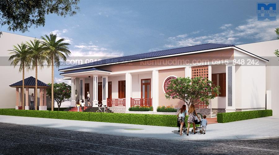 Thiết kế nhà vườn 1 tầng phong cách cổ điển gần gũi với thiên nhiên