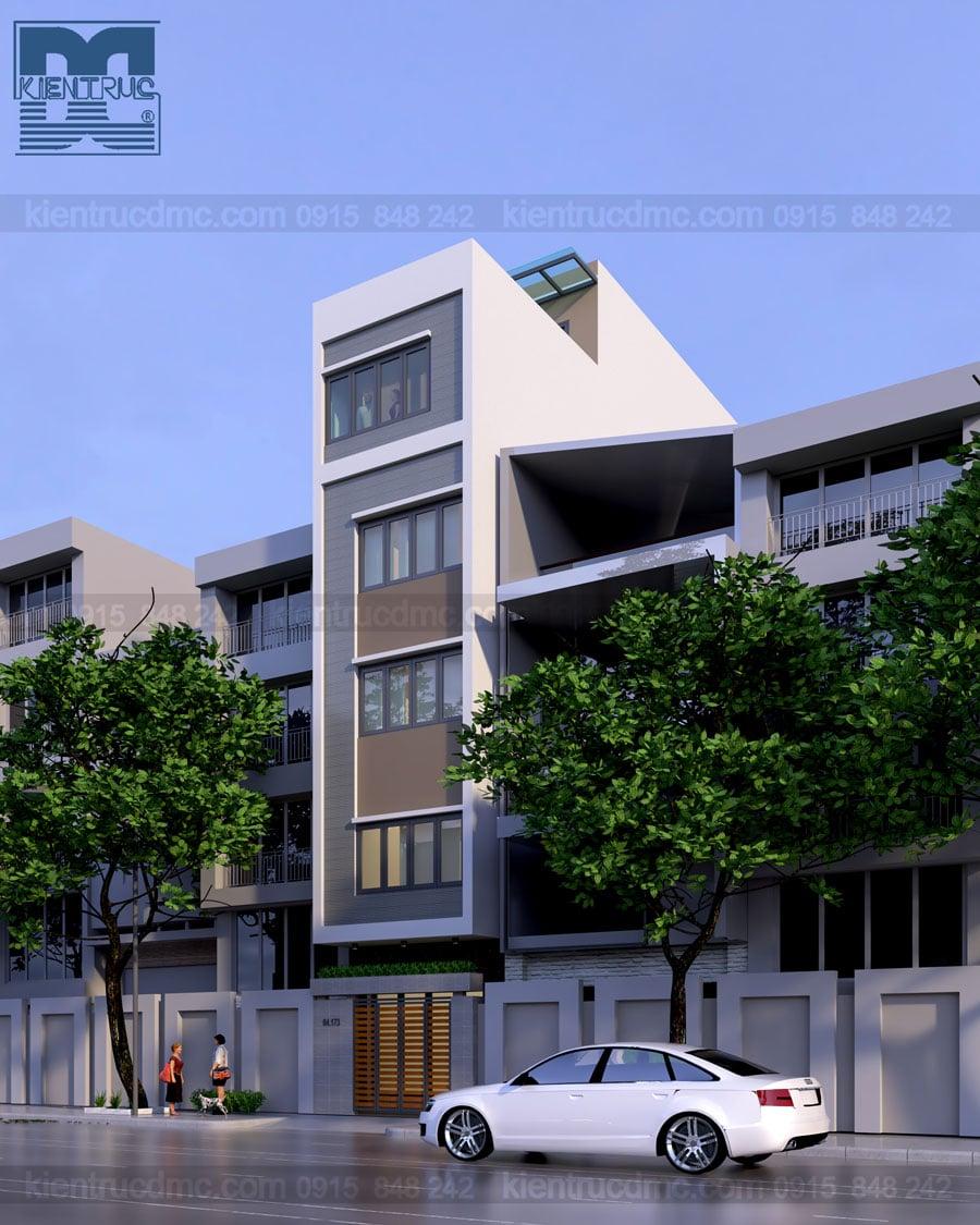 Thiết kế nhà ở kết hợp kinh doanh 6 tầng phong cách hiện đại