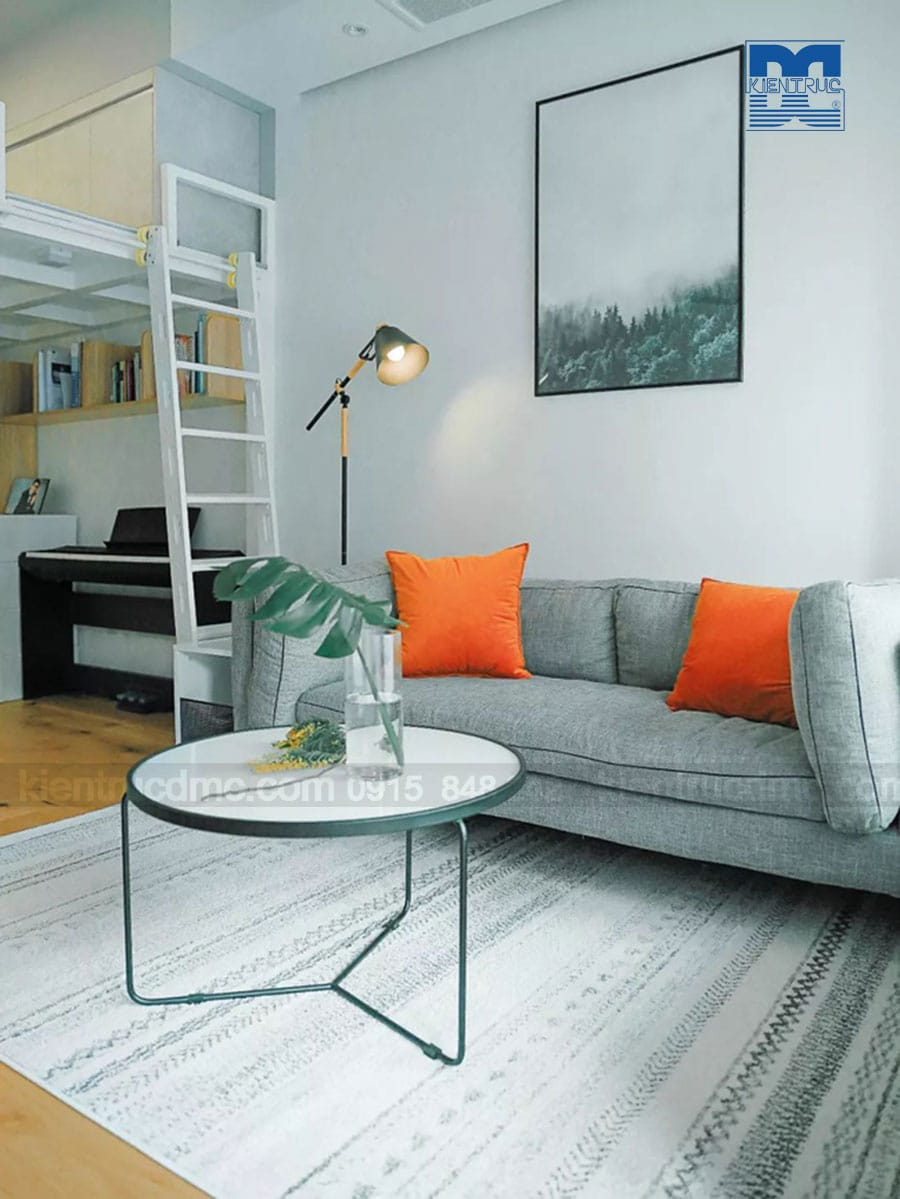 Thiết kế nội thất chung cư diện tích 48m2 với phong cách mở