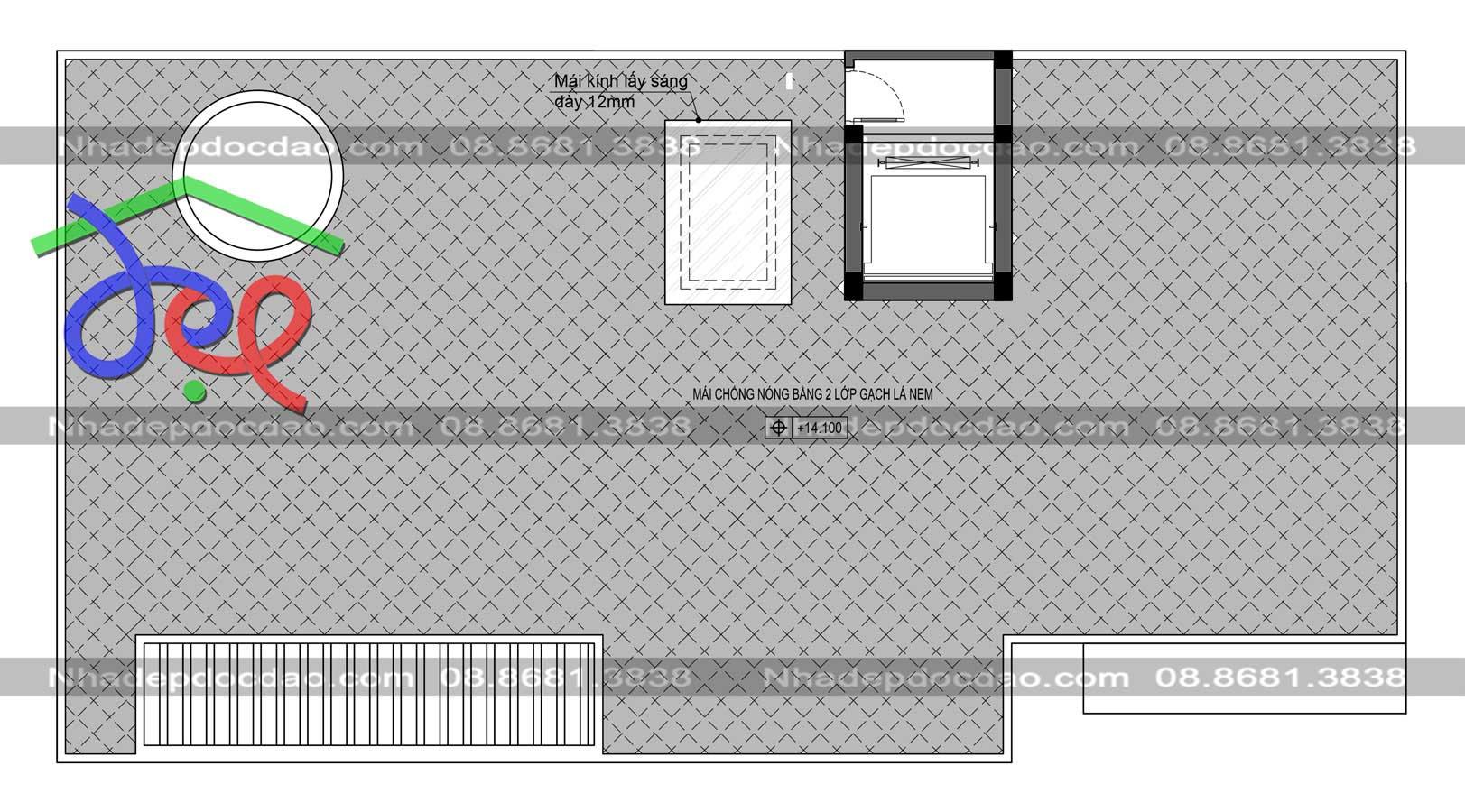 Thiết kế biệt thự phố 4 tầng hai mặt tiền kết hợp kinh doanh
