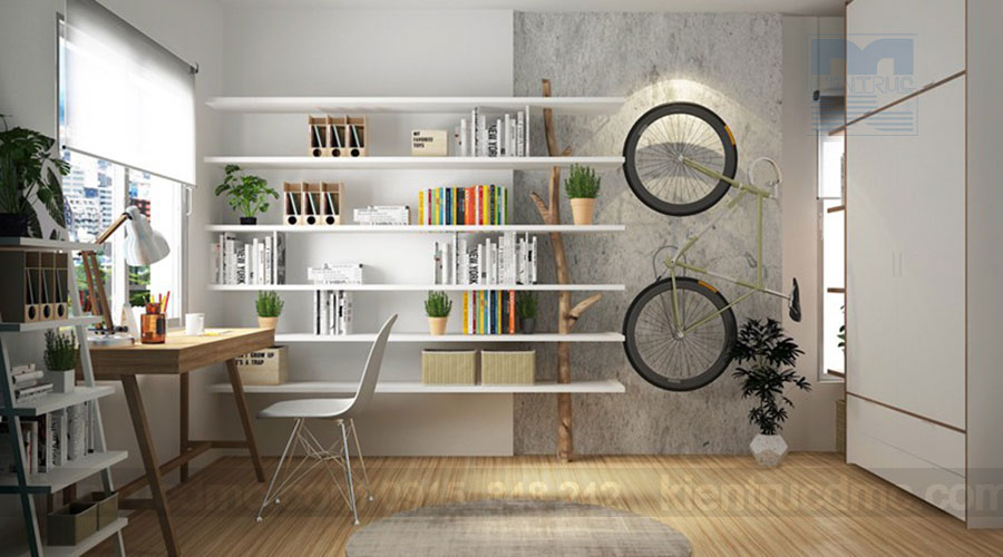 Làm mát không gian mùa hè với thiết kế nội thất chung cư màu xanh ngọc